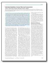 Individual Variability in Human Tibia Le... by Todd, Andrew Christian