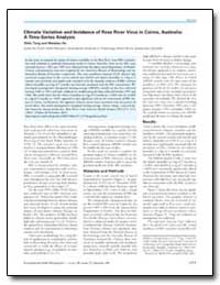 Climate Variation and Incidence of Ross ... by Tong, Shilu