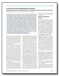 In Vitro and in Vivo Estrogenicity of Uv... by Schlumpf, Margret