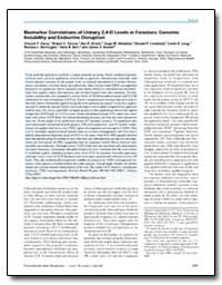 Biomarker Correlations of Urinary 2, 4-D... by Garry, Vincent F.