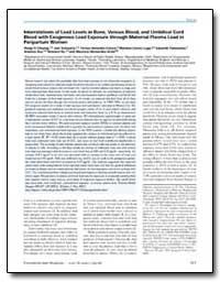 Interrelations of Lead Levels in Bone, V... by Schwartz, Joel