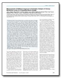 Measurement of Childrens Exposure to Pes... by Adgate, John L.