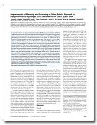 Impairments of Memory and Learning in Ol... by Schantz, Susan L.