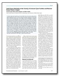 Solid-Tumor Mortality in the Vicinity of... by Pollan, Marina