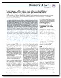 Infant Exposure to Chemicals in Breast M... by Lakind, Judy S.