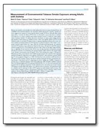 Measurement of Environmental Tobacco Smo... by Eisner, Mark D.