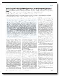 Increased Risk of Malignant Mesothelioma... by Mirabelli, Dario