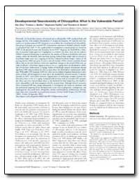 Developmental Neurotoxicity of Chlorpyri... by Seidler, Frederic J.