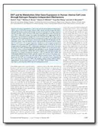 Ddt and Its Metabolites Alter Gene Expre... by Frigo, Daniel E.