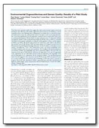 Environmental Organochlorines and Semen ... by Christiani, David C.
