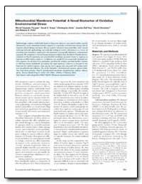 Mitochondrial Membrane Potential : A Nov... by Kreps, Sarah E.