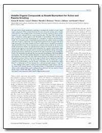 Volatile Organic Compounds as Breath Bio... by Gordon, Sydney M.