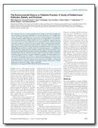 The Environmental History in Pediatric P... by Nodvin, Janice