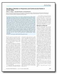 The Effect of Weather on Respiratory and... by Schwartz, Joel