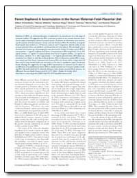 Parent Bisphenol a Accumulation in the H... by Talsness, Chris E.