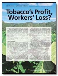 Tobaccos Profit, Workers Loss by Brown, Valerie J.