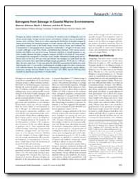 Estrogens from Sewage in Coastal Marine ... by Atkinson, Marlin J.