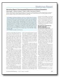 Workshop Report : Environmental Exposure... by Ashbury, Fredrick D.