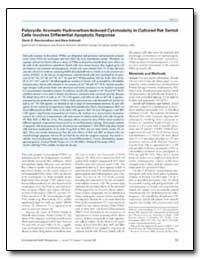 Polycyclic Aromatic Hydrocarbon-Induced ... by Raychoudhury, Samir S.