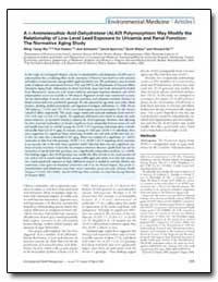 Environmental Health Perspectives, Vol. ... by Sparrow, David