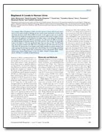 Bisphenol a Levels in Human Urine by Foureman, Gary L.
