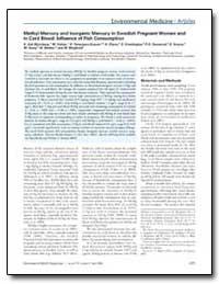 Methyl Mercury and Inorganic Mercury in ... by Bjornberg, K. Ask