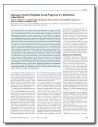 Exposure to Indoor Pesticides during Pre... by Berkowitz, Gertrud S.