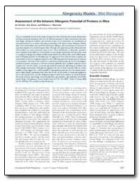 Assessment of the Inherent Allergenic Po... by Dearman, Rebecca J.