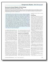 Nonmurine Animal Models of Food Allergy by Helm, Ricki M.