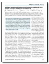 Persistent Hematologic and Immunologic D... by Ten, Gavin W.