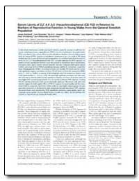 Serum Levels of 2,2,4,4,5,5-Hexachlorobi... by Richthoff, Jonas