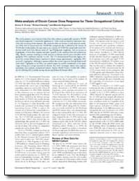 Meta-Analysis of Dioxin Cancer Dose Resp... by Crump, Kenny S.
