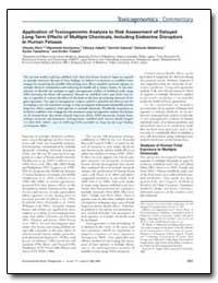 Application of Toxicogenomic Analysis to... by Todaka, Emiko