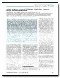 Asthma Symptoms in Hispanic Children and... by Delfino, Ralph J.