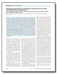 Assessing Human Exposure to Phthalates U... by Barr, Dana B.