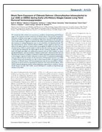 Short-Term Exposure of Chinook Salmon (O... by Milston, Ruth H.