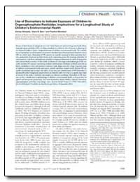 Use of Biomarkers to Indicate Exposure o... by Barr, Dana B.