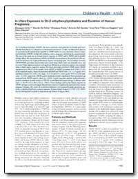 In Utero Exposure to Di-(2-Ethylhexyl)Ph... by Felice, Claudio De