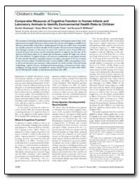 Comparable Measures of Cognitive Functio... by Mcmaster, Suzanne B.