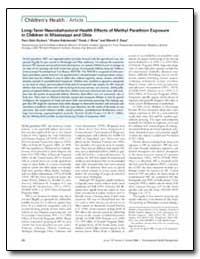 Long-Term Neurobehavioral Health Effects... by Ruckart, Perri Zeitz