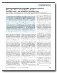 Developmental Neurotoxicity Elicited by ... by Seidler, Frederic J.