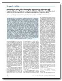 Reductions in Blood Lead Overestimate Re... by Stangle, Diane E.