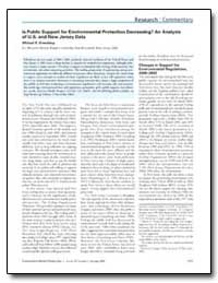 Is Public Support for Environmental Prot... by Greenberg, Michael R.