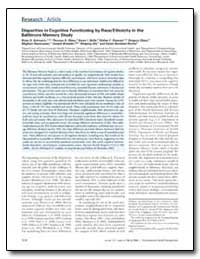 Disparities in Cognitive Functioning by ... by Schwartz, Brian S.