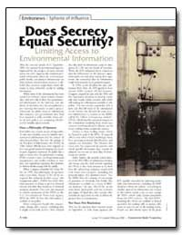 Does Secrecy Equal Security? by Dahl, Richard