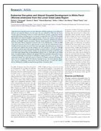 Endocrine Disruption and Altered Gonadal... by Kavanagh, Richard J.