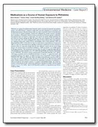 Medications as a Source of Human Exposur... by Calafat, Antonia M.