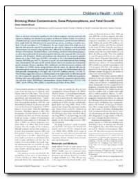 Drinking Water Contaminants, Gene Polymo... by Infante-Rivard, Claire