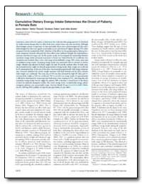 Cumulative Dietary Energy Intake Determi... by Odum, Jenny