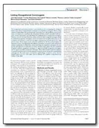 Listing Occupational Carcinogens by Lakhani, Ramzan